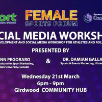 Female Athletes & Role Models Social Media Workshop